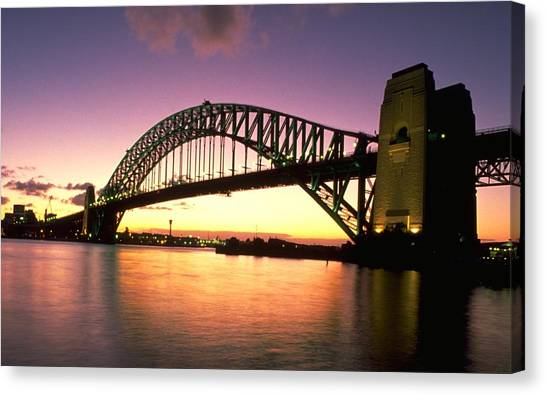 Travelpics Canvas Print - Sydney Harbour Bridge by Travel Pics
