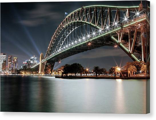 Sydney Harbour Lights Canvas Print