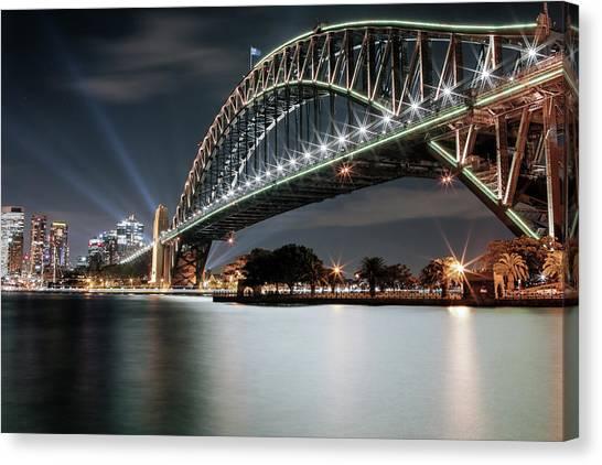 Sydney Harbour Lights Canvas Print