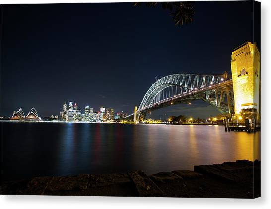 Sydney Harbour Silk Canvas Print