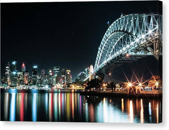 Sydney Harbour Sparkle Canvas Print