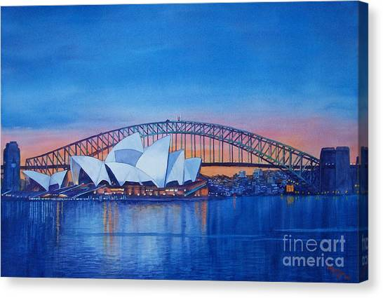 Bridge Canvas Print - Sydney Opera House by Dani Tupper