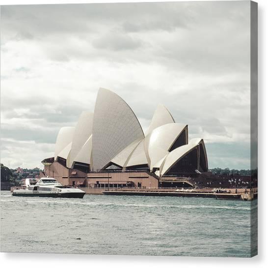 Koala Canvas Print - Sydney Opera House by Lie Gabrian Suryali