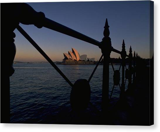 Sunset Travelpics Canvas Print - Sydney Opera House by Travel Pics