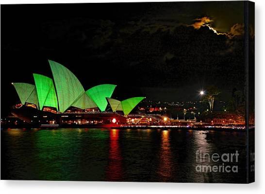 Sydney Opera House Vivid Festival Australia Canvas Print