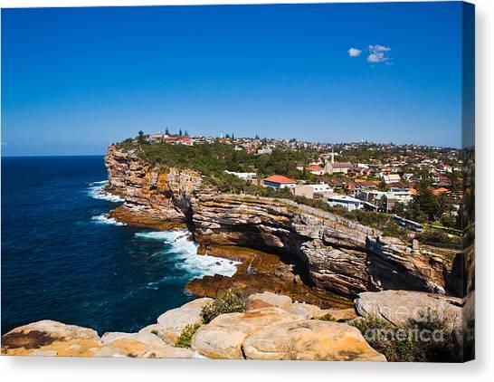 Sydney Sandstone Clifftop Canvas Print by John Buxton