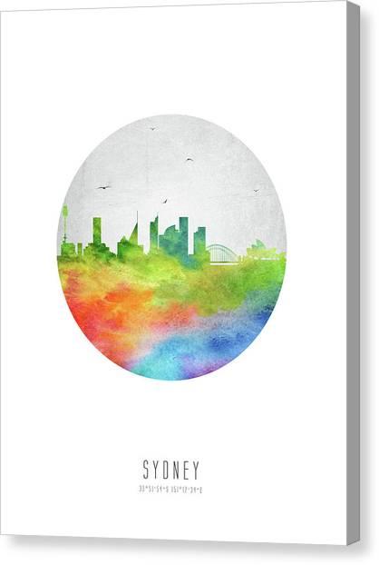 Sydney Skyline Canvas Print - Sydney Skyline Ausy20 by Aged Pixel