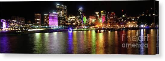 Sydney Skyline Canvas Print - Sydney Skyline By Kaye Menner by Kaye Menner