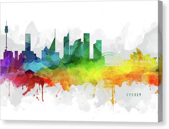 Sydney Skyline Canvas Print - Sydney Skyline Mmr-ausy05 by Aged Pixel