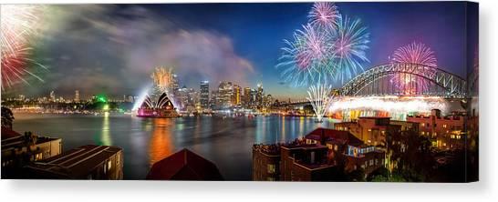 Fireworks Canvas Print - Sydney Sparkles by Az Jackson
