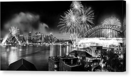 Sydney Harbour Canvas Print - Sydney Spectacular by Az Jackson