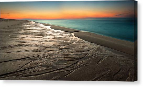 Sundown Canvas Print - Sylt Low Tide Sundown by Niclas Hartz