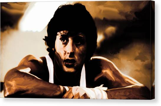 Joe Frazier Canvas Print - Sylvester Stallone  by Brian Reaves