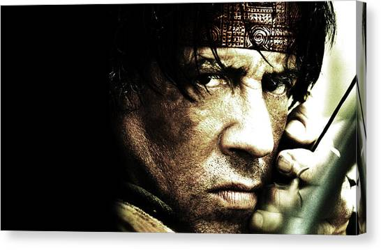 Stallone Canvas Print - Sylvester Stallone by Emma Brown