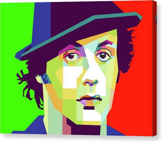 Stallone Canvas Print - Sylvester Stallone by Muhamad Arif