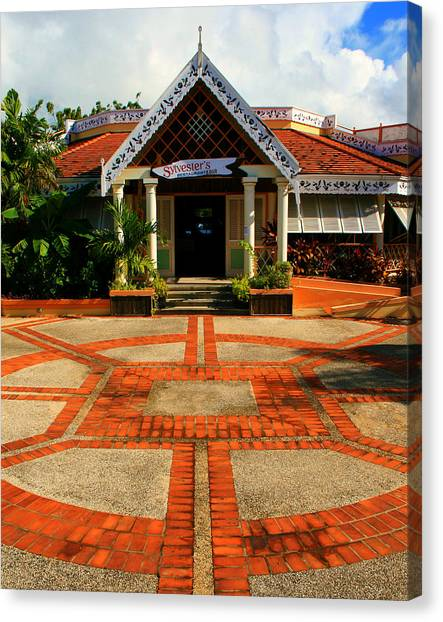 Pavers Canvas Print - Sylvester's by Perry Webster