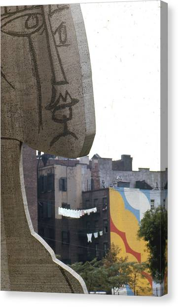 New York University Canvas Print - Sylvette In The Village by Erik Falkensteen