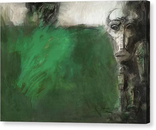Symbol Mask Painting - 03 Canvas Print
