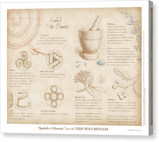 Symbols And Elements Canvas Print