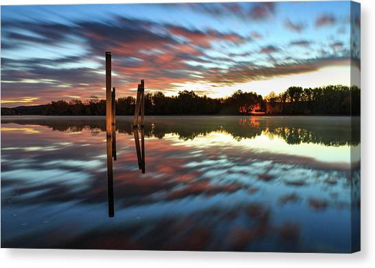 Symetry On The River Canvas Print