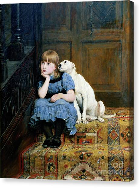 Shoulders Canvas Print - Sympathy by Briton Riviere
