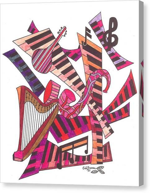 Symphony  Canvas Print by Eric Devan