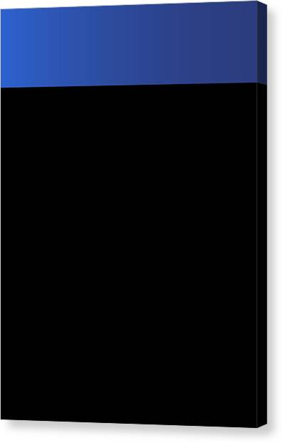 Symphony In Blue - Movement 3 - 2 Canvas Print