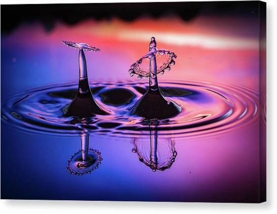 Synchronized Liquid Art Canvas Print