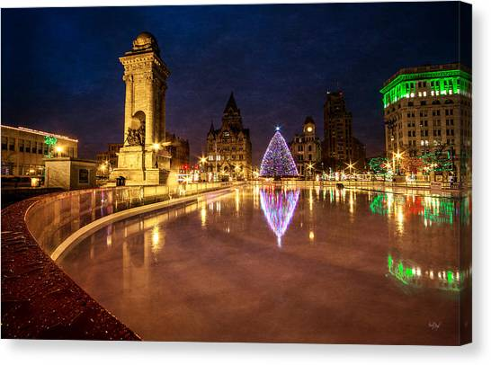 Syracuse University Canvas Print - Syracuse Christmas by Everet Regal