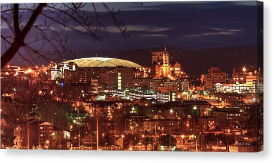 Syracuse University Canvas Print - Syracuse Dome At Night by Everet Regal