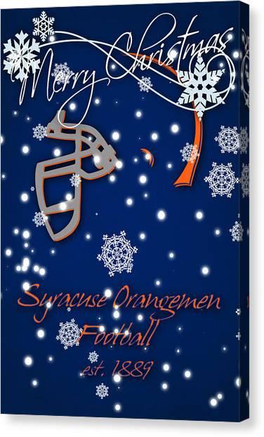 Syracuse University Canvas Print - Syracuse Orangemen Christmas Card by Joe Hamilton