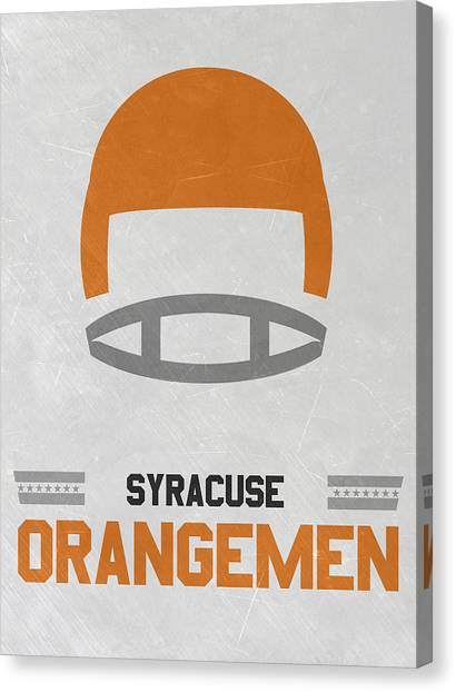 Syracuse University Canvas Print - Syracuse Orangemen Vintage Football Art by Joe Hamilton