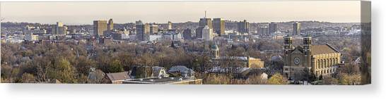 Syracuse University Canvas Print - Syracuse Skyline by Everet Regal