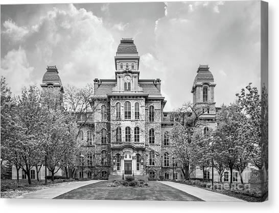 Colleges And Universities Canvas Print - Syracuse University Hall Of Languages by University Icons