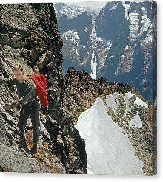 T-04403 Walt Buck Sellers On First Ascent Of Mt. Torment Canvas Print