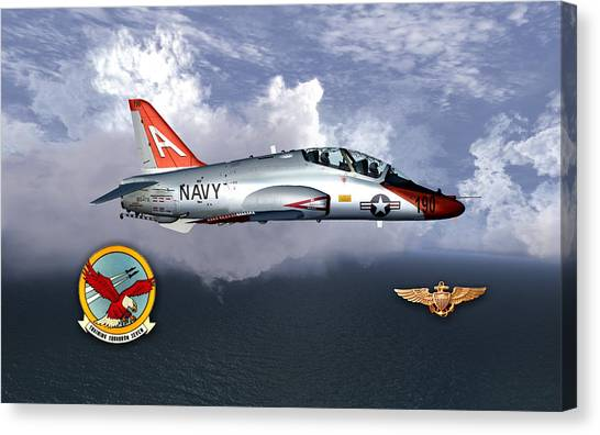 T-45 With Wings Canvas Print