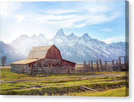 T. A. Moulton Barn // Grand Teton National Park  Canvas Print