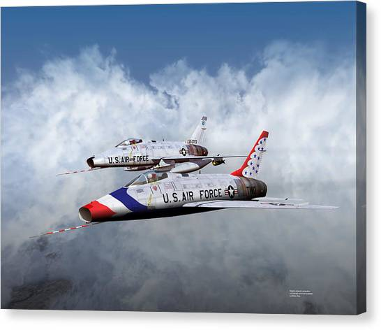 T Bird Two And A Regular Hun Canvas Print