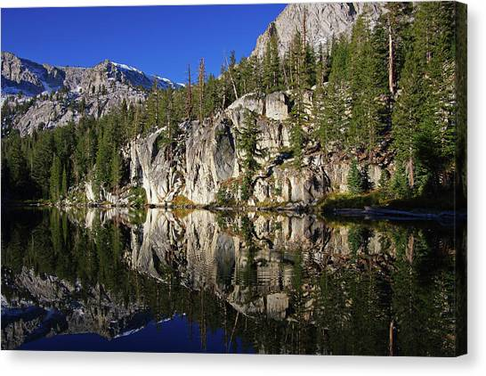 T J Lake Reflections Canvas Print