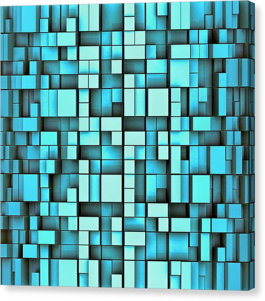 Tetris Canvas Print - T M F - Tetrismadness Fractallization  by Nenad Cerovic