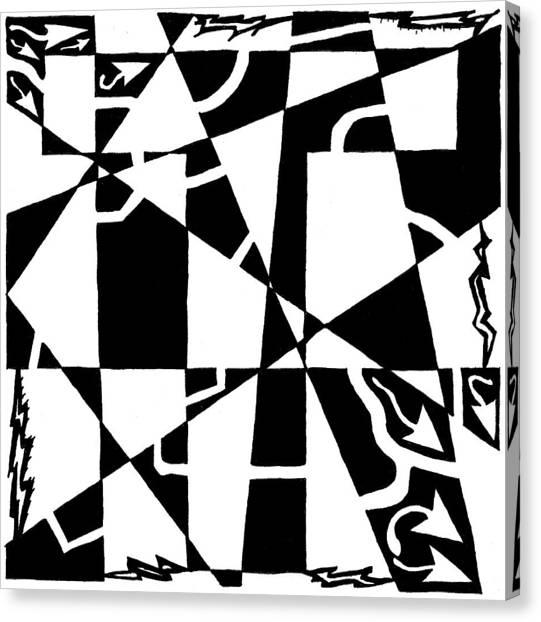 T Maze Canvas Print by Yonatan Frimer Maze Artist