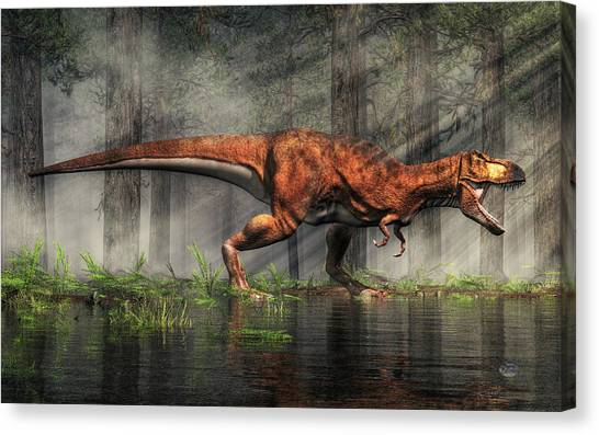 Tyrannosaurus Canvas Print - T-rex by Daniel Eskridge