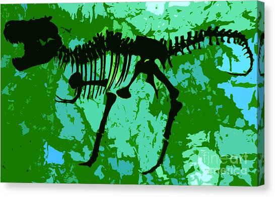Steak Canvas Print - T. Rex by David Lee Thompson