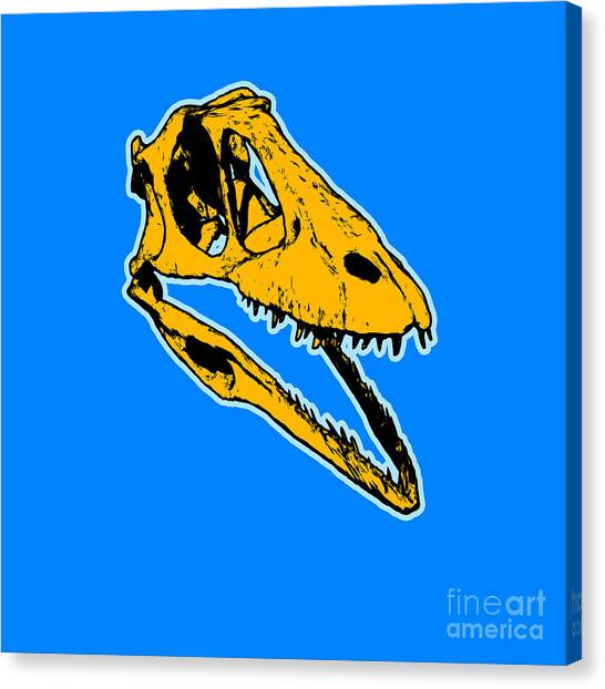 Prehistoric Canvas Print - T-rex Graphic by Pixel  Chimp