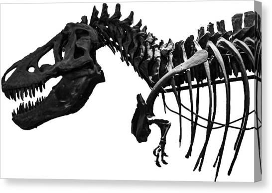 T-bone Canvas Print - T-rex by Martin Newman