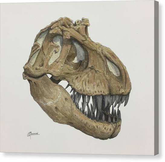 T. Rex Skull 2 Canvas Print