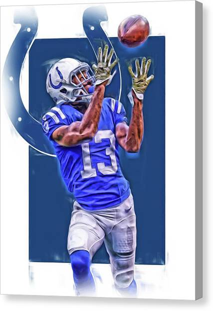 Indianapolis Colts Canvas Print - T Y Hilton Indianapolis Colts Oil Art by Joe Hamilton