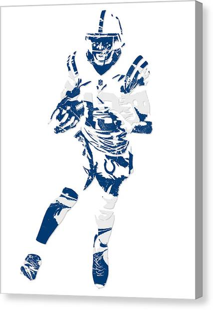 Indianapolis Colts Canvas Print - T Y Hilton Indianapolis Colts Pixel Art 1 by Joe Hamilton