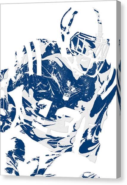 Indianapolis Colts Canvas Print - T Y Hilton Indianapolis Colts Pixel Art 2 by Joe Hamilton