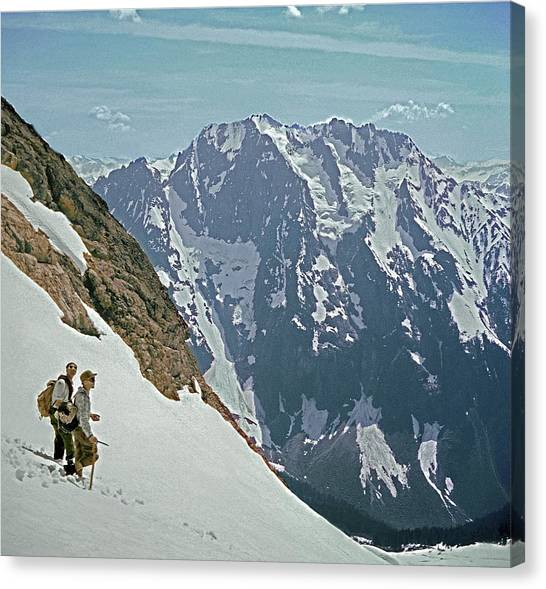 T04402 Beckey And Hieb After Forbidden Peak 1st Ascent Canvas Print